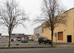 Knox site parking lot