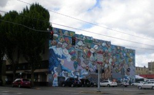 Woodruff Block with Rafah Mural